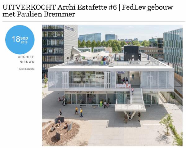 architectuur estafette #6 naar Fedlev gebouw